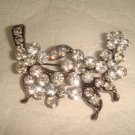 Bridal Flower bling crystal Rhinestone Brooch pin Pi334