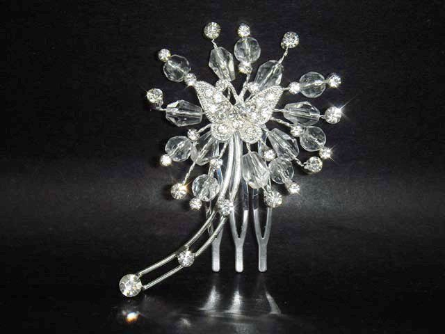 Butterfly Bridal crystal Rhinestone Hair Comb RB168
