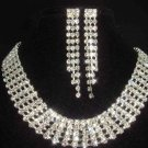 5 row Bridal AB Rhinestone necklace earring NR188