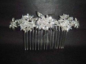 Bridal Crystal Rhinestone Flower Hair tiara Comb RB397