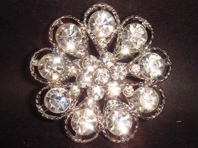 Bridal Crystal Bridesmaid Rhinestone Brooch pin PI131