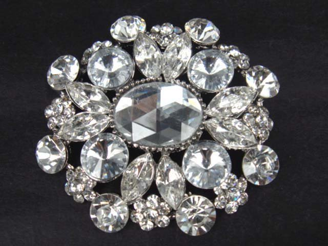 Bridal dress Vintage style Rhinestone Brooch pin Pi331