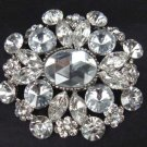 Bridal dress Vintage style Rhinestone Brooch pin Pi331