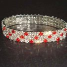 3 row Bridal Crystal Rhinestone Bangle Bracelet BR149
