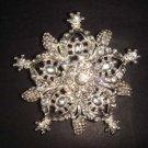 Bridal Vintage Crystal Rhinestone Brooch pin Pi188