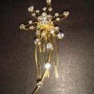 Bridal Rhinestone butterfly Hair tiara Comb RB334A