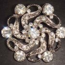 Bridal Wedding Vintage style Rhinestone Brooch pin PI85
