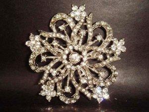 Bridal Vintage Style Rhinestone Brooch pin PI133