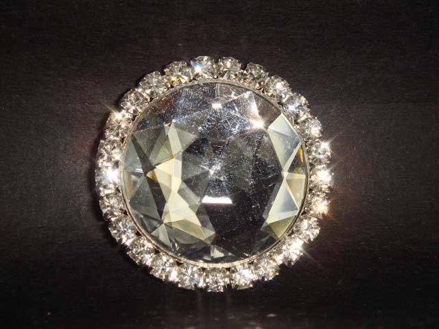Bridal Circle Bling Rhinestone Brooch pin PI217