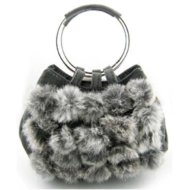 Wedding Party Rabbit Fur Shoulder bag Purse handbag LB9