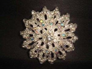 Bridal Vintage style Bling Rhinestone Brooch pin PI223