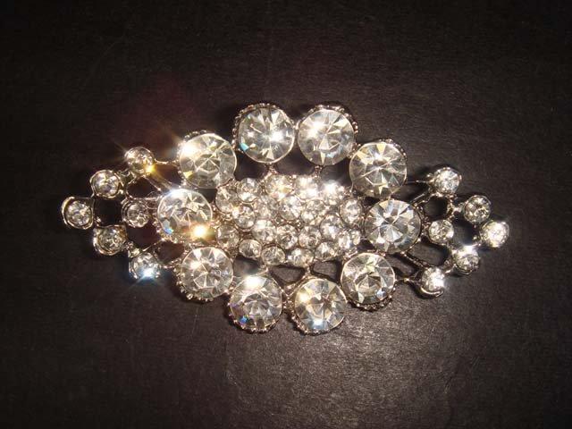 Bridal Vintage style bling Rhinestone Brooch pin PI298