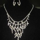 Bridal Rhinestone Crystal Earring necklace Set NR153