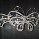 Bridal Rhinestone Butterfly Hair Tiara Comb RB370