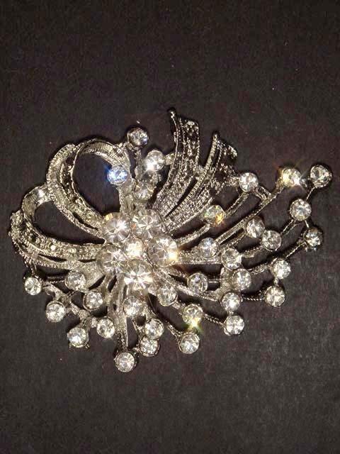 Wedding Bling Rhinestone crystal Pin Brooch PI01