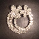 Bridal Butterfly bling Rhinestone Brooch pin Pi337