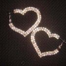 2 row Bridal Heart Rhinestone Crystal Earring ER172