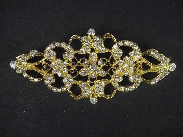 Bridal Crystal rhombus Vintage style Rhinestone Brooch pin Pi180