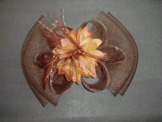 Bridal Feather Hair Flower Fascinator tiara Clip BA140