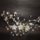 Bridal Rhinestone Crystal Flower Hair tiara Comb RB417