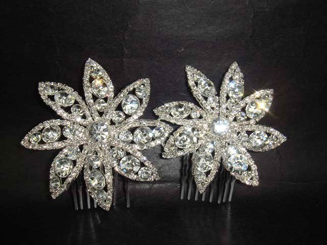 Bridal Rhinestone Headpiece Hair tiara Comb RB441