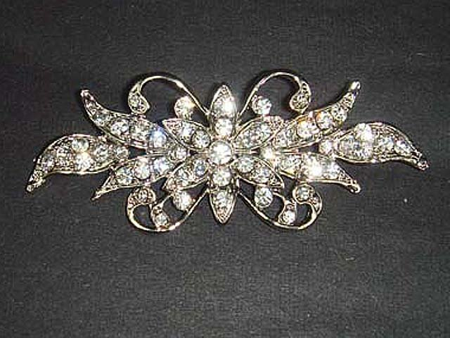 Bridal Dress vintage style Rhinestone Brooch pin PI449