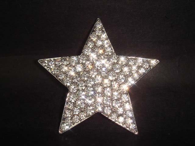 Bridal Star crystal Rhinestone Brooch pin Pi184