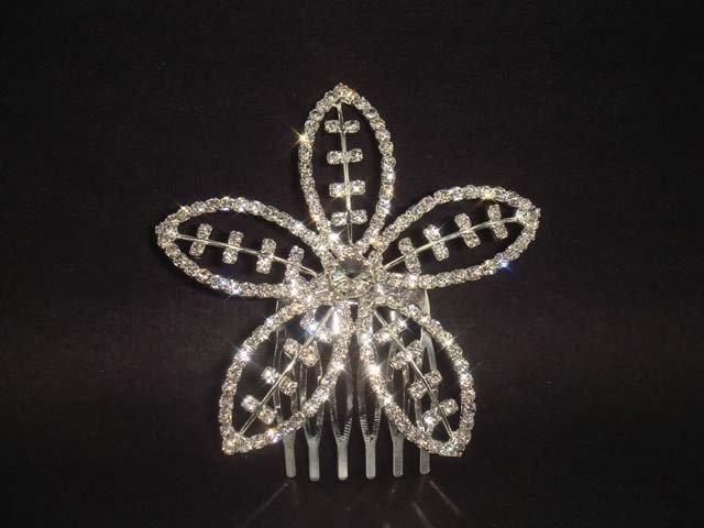 Bridal Rhinestone Crystal flower hair comb Tiara RB460