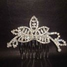 Bridal Crystal Rhinestone Leaf Hair tiara Comb RB445