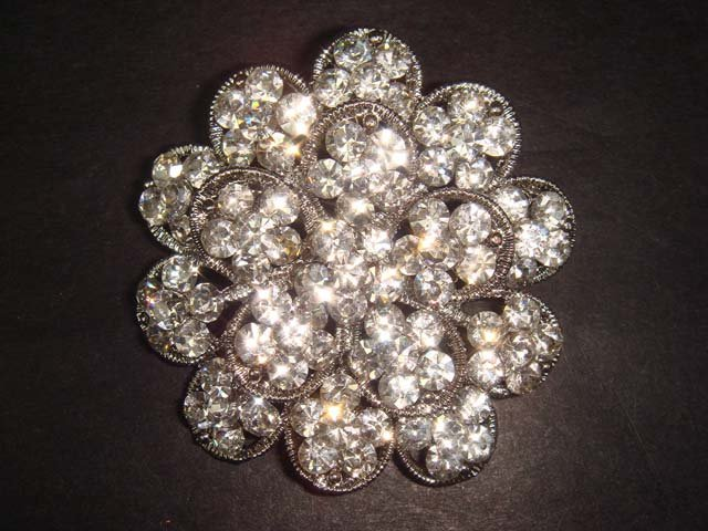 Bridal cake topper dress Rhinestone Brooch pin PI122