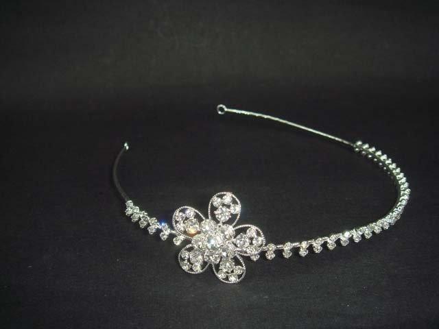 Bridal Flower Rhinestone Crystal Headband tiara HR137