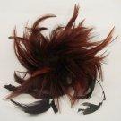 Bridal Feather Fascinator hair White brooch clip BA149