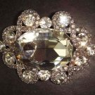 Bridal oval Crystal Rhinestone Brooch pin PI279