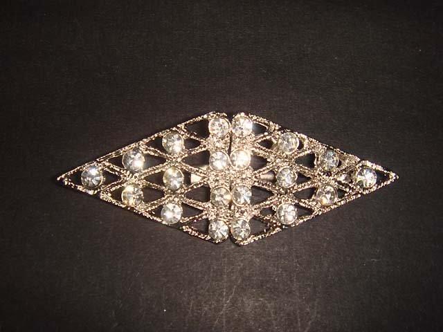 Bridal Rhombus Crystal Rhinestone Brooch pin PI476