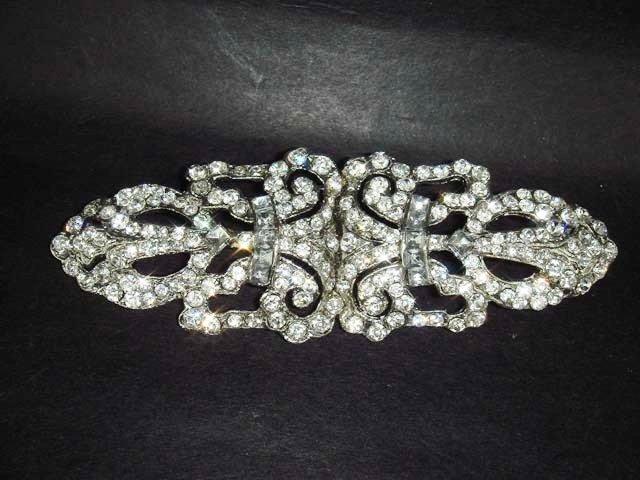 Bridal dress vintage style Rhinestone Brooch pin Pi242