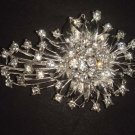 Bridal dress prom crystal Rhinestone Brooch pin PI468