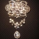 Bridal Dangle Vintage style Rhinestone Brooch pin PI407