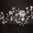 Bridal Crystal Rhinestone Flower Hair tiara Comb RB318