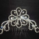 Bridal Crystal Rhinestone Flower Hair tiara Comb RB444