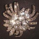 Bridal Faux pearl Flower Rhinestone Brooch pin PI484