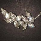 Bridal Leave Faux pearl crystal Rhinestone Brooch pin PI479