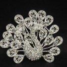 Bridal crystal Peacock Rhinestone Brooch pin PI114