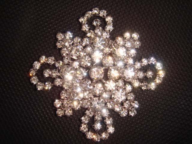 Bridal cake dress rhombus Rhinestone Brooch pin PI425