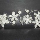 Bridal Rhinestone Flower Crystal Hair tiara Comb RB118