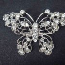 Bridal Crystal butterfly Rhinestone Brooch pin Pi411