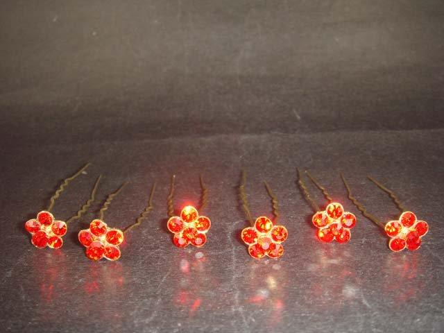 6 Bridal veil prom square Rhinestone Hairpin RP161