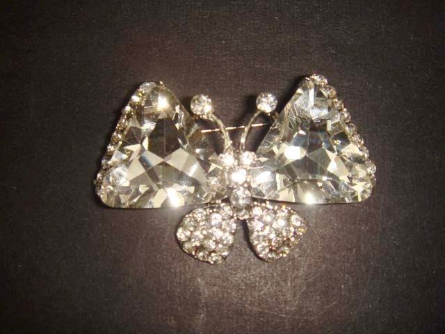 Bridal Butterfly crystal Rhinestone Brooch pin PI477