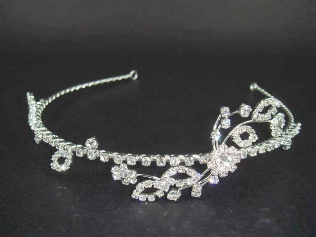 Bridal Flower Crystal Rhinestone Headband Tiara HR40