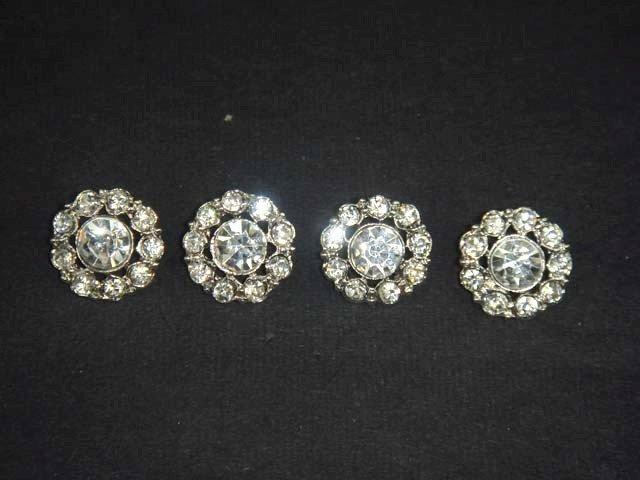 4 sewing Crystal  Rhinestone clasp hook button BN17