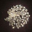 Bridal Vintage Style bling Rhinestone Brooch pin Pi445